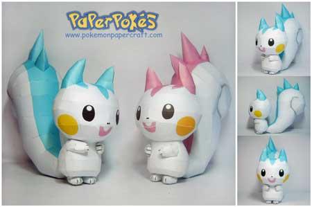 Pokemon Pachirisu Papercraft