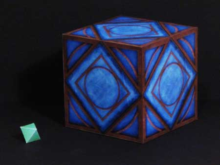 Star Wars - The Clone Wars Jedi Holocron Kyber Memory Crystal Papercraft
