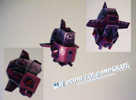 Mega Man Legends Drache Papercraft