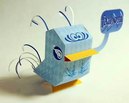 NaniBird Paper Toy Sailor Bird