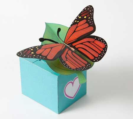 Fluttering Butterfly Papercraft
