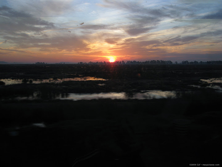 Dawn through dirty window