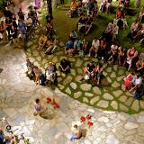 Tourist enjoy a free show