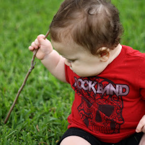 I can kill this bug with my stick. by Judy B - Babies & Children Children Candids
