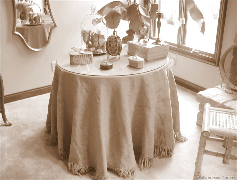 sepia table