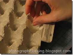 Shaping in an egg carton