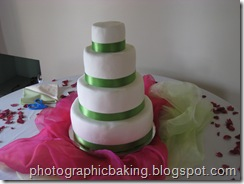 Fully ribboned cakes