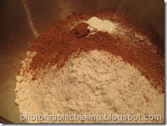 Chocolate cake dry ingredients