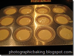 Batter in the cupcake pan