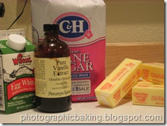 Vanilla butter cream mise en place
