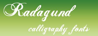 radagund script calligraphy font