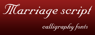 marriage script calligraphy font