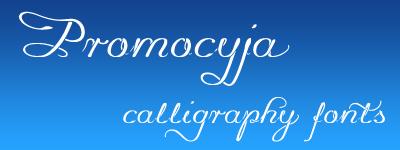 promocyja calligraphy script