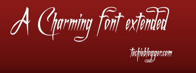 A Charming Font Extended Italics