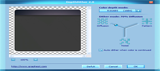DepthDither provides color dither for Photoshop