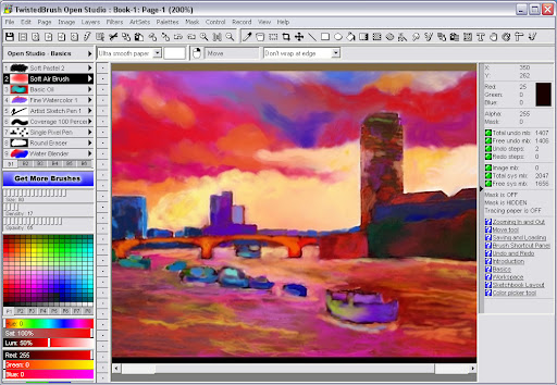 TwistedBrush Open Studio Image Editor