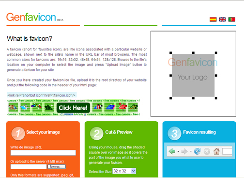 GenFavicon - favicon, generator, free, creator, icon, favicon generator, web, explorer, firefox, browser, makeicon, image, ico
