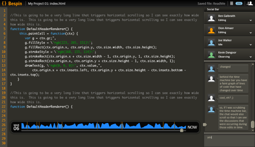Mozilla Labs Bespin - extensible code editor