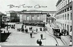 como era o Largo da Carioca antes das reformas de Passos. Ao fundo, o chafariz que durante séculos abasteceu a cidade.