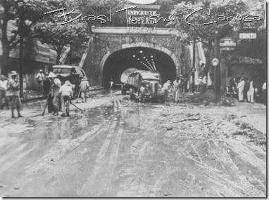 Temporal, bloqueio do Tunel Novo, década de 40