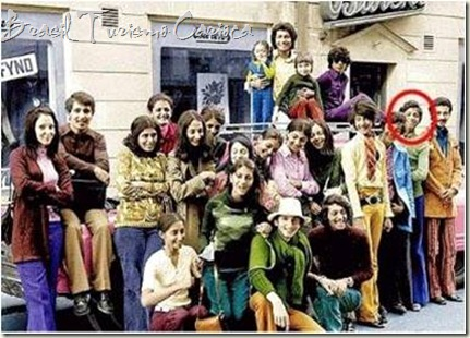Família Bin Laden em visita à Nova York nos anos 60. Em destaque ele, Osama