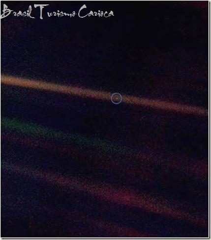 No dia 14 de Fevereiro de 1990, a pedido de Carl Sagan, a sonda Voyager 1 voltou-se e tirou várias fotografias