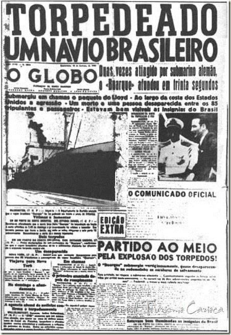 torpedeado um navio brasileiro