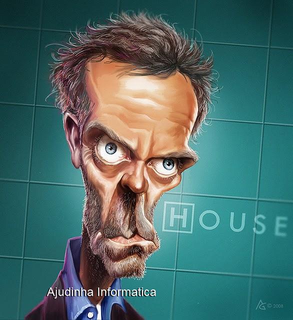 humor-- ajudinha informatica-caricatura - house