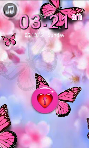 Pink Butterfly Theme 4GOLOCKER