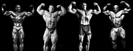 mr olympia front double biceps pose