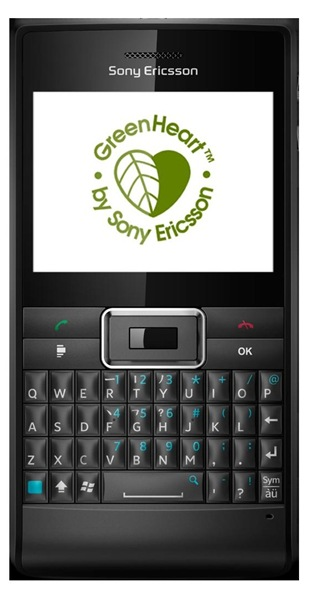 green heart by Sony Ericsson Aspen Smartphone  2