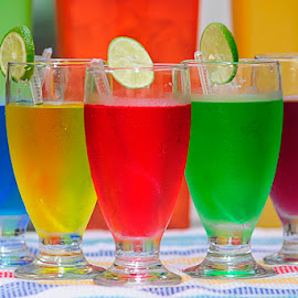 FIVE COLOURs by Chev M - Food & Drink Alcohol & Drinks ( cold, fine arts, ice, drinks, colours )