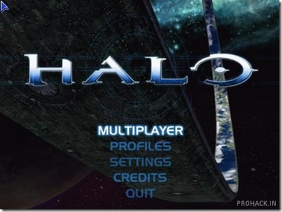 Halo Custom Edition title screen