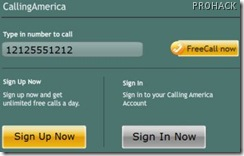 Free calls anywhere in America using CallingAmerica