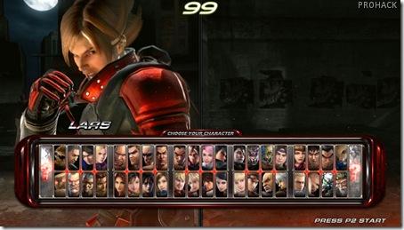 Tekken 6 Character select