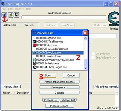selct process - theprohack.com
