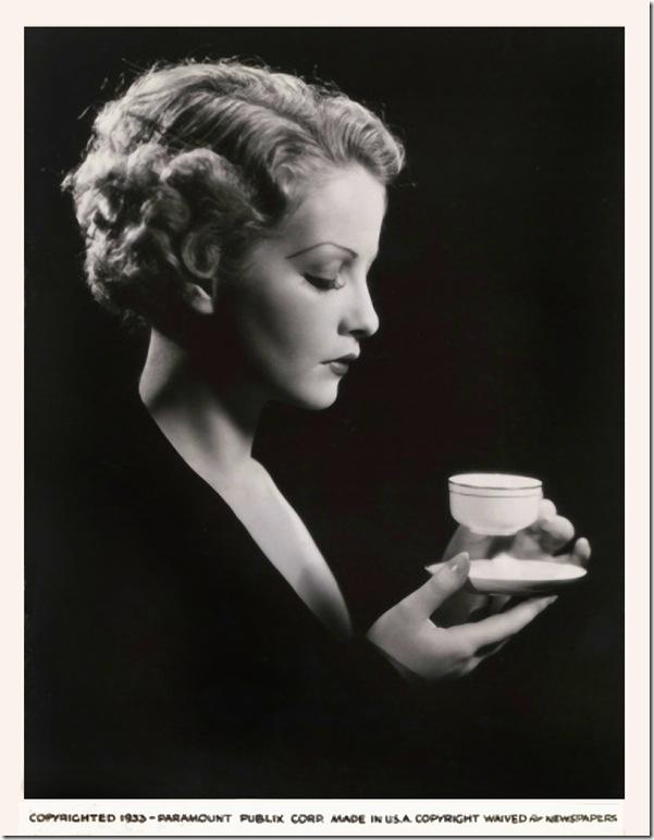 Sari Maritza sipping tea, publicity still, 1933