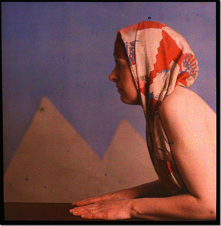 Woman posed as sphinx by W. Simon, 1910