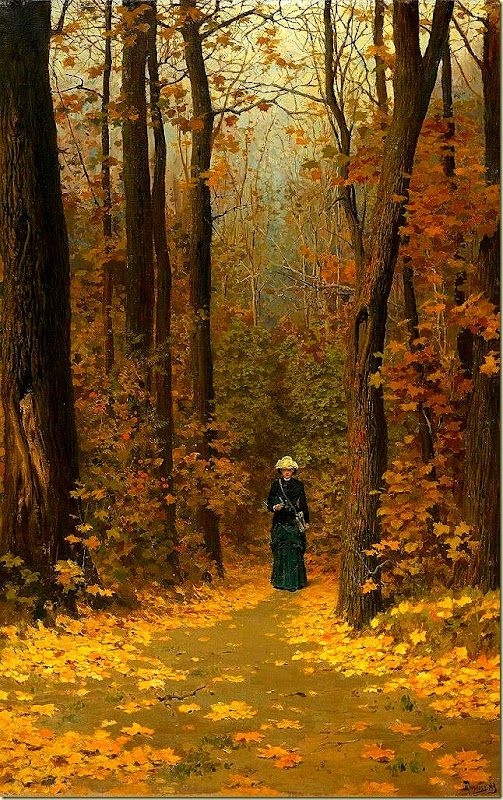 Vasili Dimitrievich Polenov, Woman walking on a forest trail