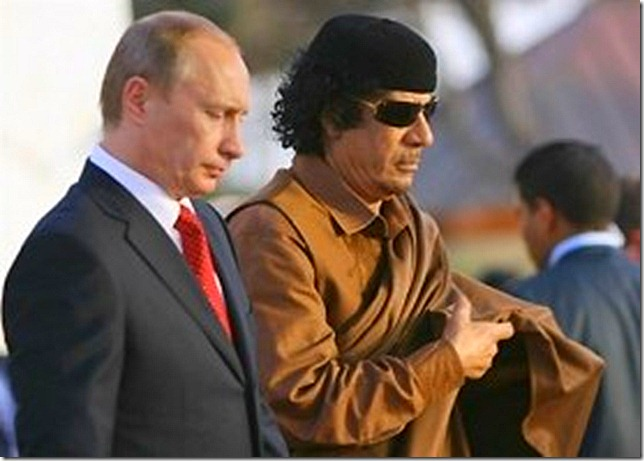 GADDAFI_Putin Gadafi