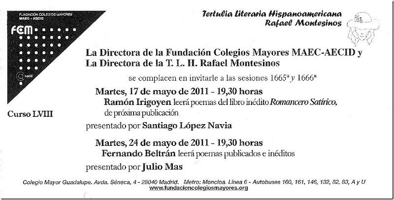 Tertulia Blog. Sesiones 1665ª y 1666ª.