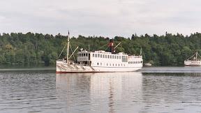 Steamer approaching Drottningholm, Stockholm