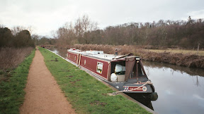 Narrowboat Chelonian on the Kennet & Avon Canal at Wollhampton, Berkshire