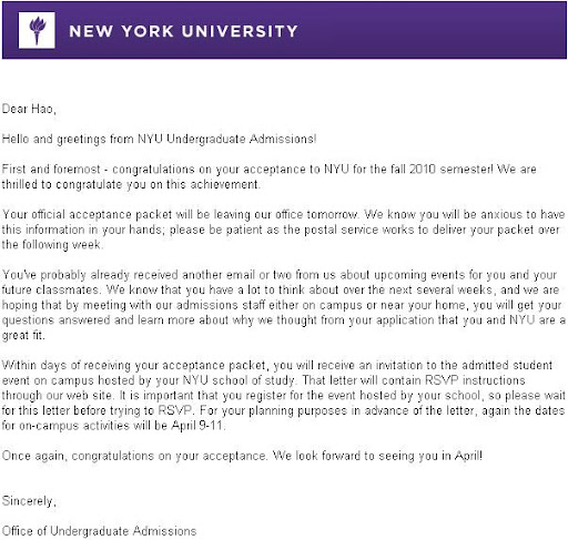 best college application essay nyu