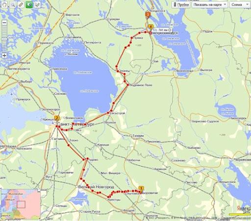 Маршрут до Петрозавдска