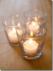 Etched Glass Tealight Holders