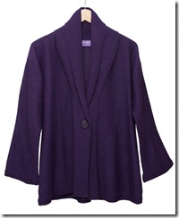 humm purple cardigan