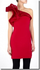 Red silk crepe dress
