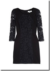black dress tibi dress