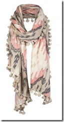 all saints scarf pink